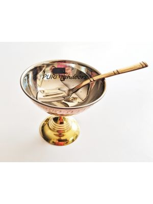Copper Ice Cream cup n copper spoons ( Set of 12)