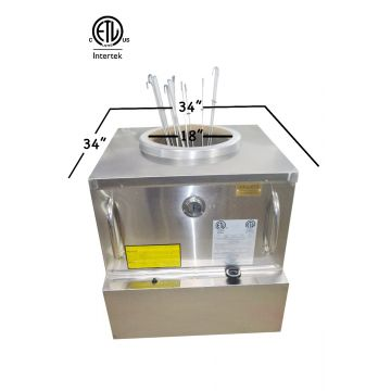 ETL-NSF-ANSI RESTAURANT GAS TANDOOR OVEN 34X34